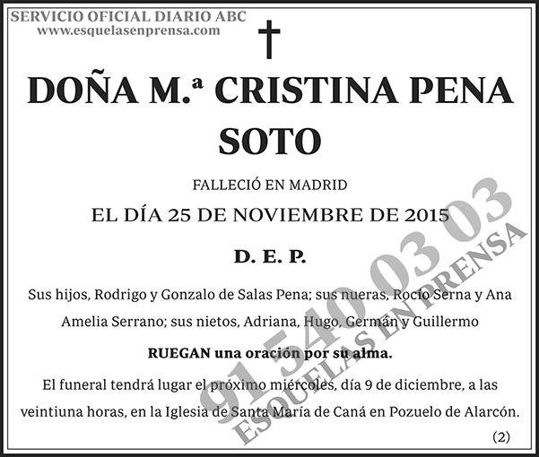 M.ª Cristina Pena Sot